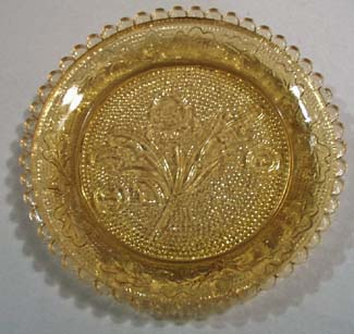 Summitt glass cup plate in amber