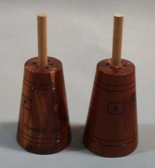Cedar Wood Churn Salt & Pepper Shakers