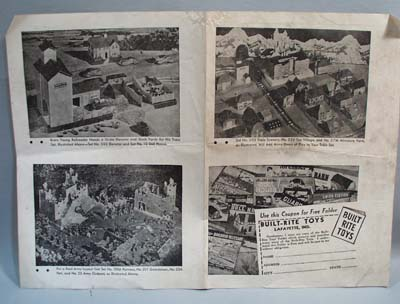 Built RiteToy Layout Sheet 30's or Early 40's