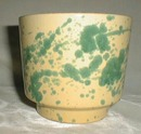 West Germany Planter Green Splatter Yelloware