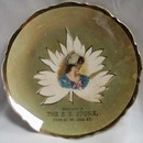 Advertising plate Pioneer Girl