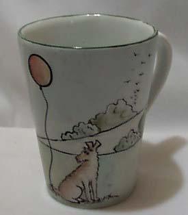 Heinrich porcelain hp boy & dog mug