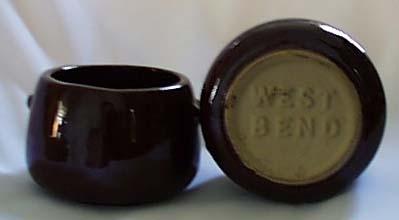 Pair of West Bend individual bean crocks