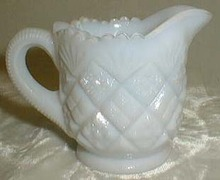 Milk Glass Opalescent Individual Creamer