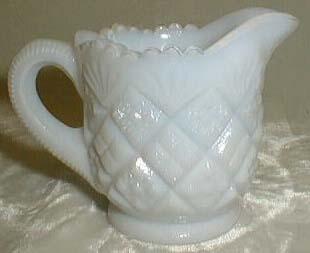 Milk Glass Opalescent Individual Creamer