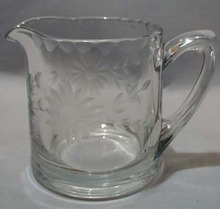 Individual Creamer With Cut Daisy Design