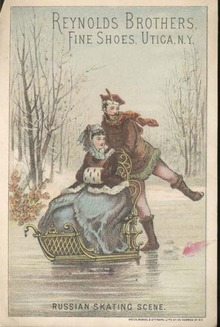 Shoes Trade card, 1880 , Reynolds Brothers,NY