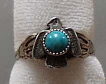 Turquoise & SS Eagle Ring