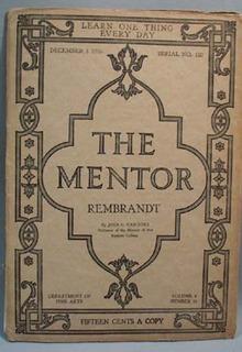 The Mentor Magazine Rembrandt 1916