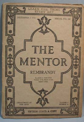 The Mentor Magazine Rembrandt 1916