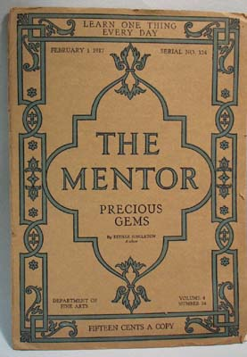 The Mentor Magazine Precious Gems 1917