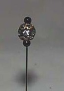 Hat Pin, rhinestone ball with ornate look