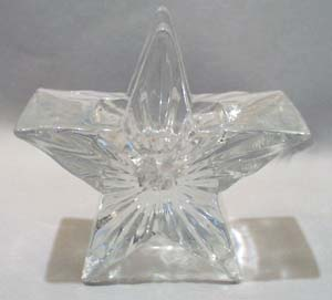 Star Shaped Glass Candle Holder