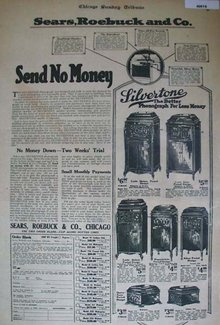 Silvertone Console Phonographs 1920 ad