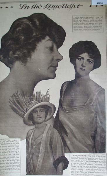 model Miss Reba Z. Porter, Mrs. Claude Grahame White 1916 picture