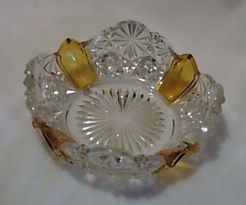 Pressed glass old berry bowl