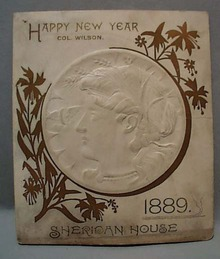 Sheridan House 1889 New Year Menu