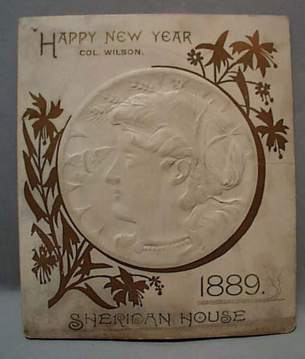 Sheridan House 1889 New Year Menu