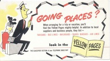 Yellow pages ink blotter, 1950 era