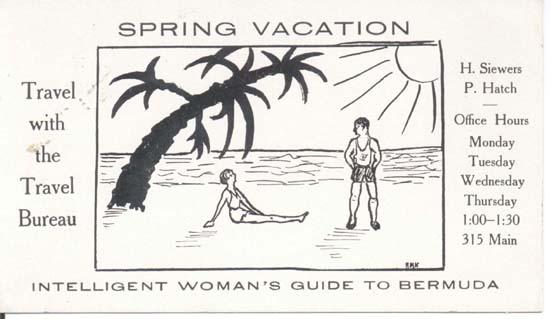 Travel agency ink blotter, 1930-40 era