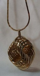 Entwined Wire Gold Tone Pendant