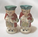 Colonial Dressed Ceramic Salt & Pepper,  toby