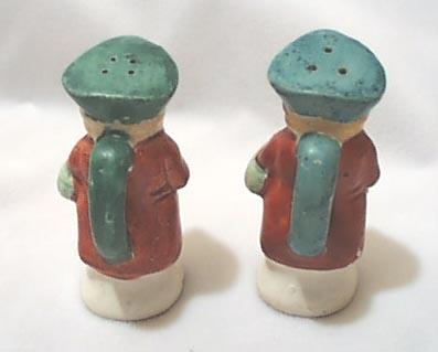 Colonial Dressed Ceramic Salt & Pepper,  toby