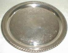 William Rogers Tray in a Rose Flower design
