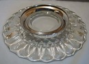Silver Plated Bottom On Crystal Tray