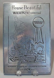 Wilton Pewter Store Award 1974