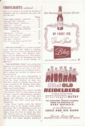 Chicago Stagebill Footlights, 1945