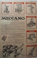 1923 Meccano Engineering toy set Ad Toronto