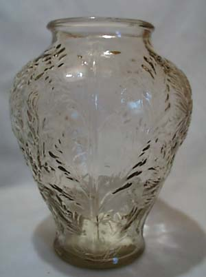 Mum Pressed Glass Vase Old