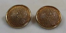 Lisner Goldtone Dome  Like Earrings