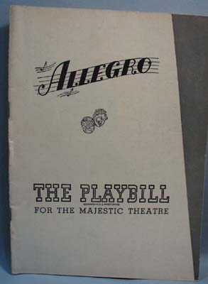 1948 Allegro Playbill For Majestic Theatre