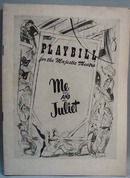 Playbill 1953 Me and Juliet Rodgers & Hammer