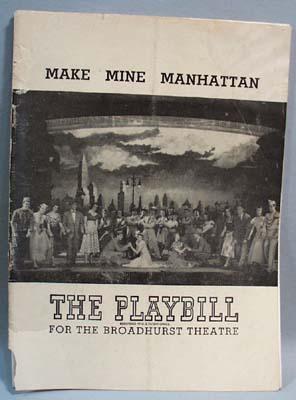 1948 Make Mine Manhattan Playbill