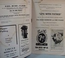 English Theatre 1943 Playbill for Dark Eyes
