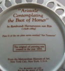 Art Treasures #2 The Bust of Homer Plate