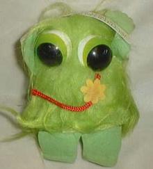 Paula Co. Green fuzzy 1983, made in Korea