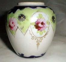 Porcelain ginger jar bottom handpainted
