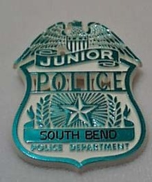 South Bend Junior Police Badge Plastic