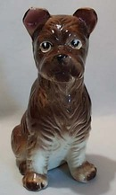 Handpainted Terrier Ceramic Dog