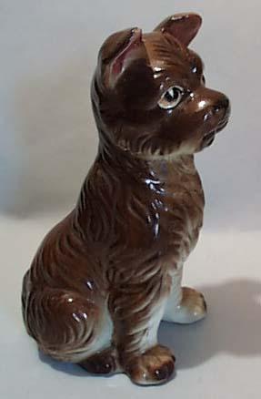 Handpainted Terrier Ceramic Dog