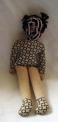 Cloth Bodied Doll Old.  Has old plastic face,