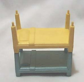 Rubber Bunk Bed Doll Furniture Yellow & Blue