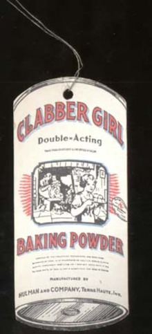 Clabber Girl Baking Powder Wire Tag, unusual