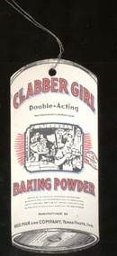 Clabber Girl Baking Powder Wire Tag, unusual
