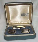Flex-let mens jewelry tie clip & cufflinks