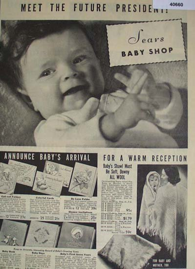 Sears Baby Shop 1938 Ad